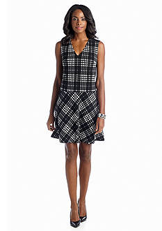 muse Houndstooth Printed Dress