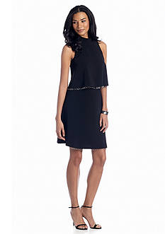muse Popover Dress with Chain Embellishment
