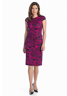 muse Printed Sheath Dress