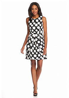 muse Polka Dot Fit and Flare Dress