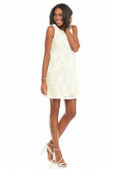 muse Novelty Lace Trapeze Dress