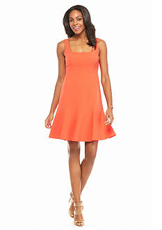 muse Flounce Hem Scuba Dress