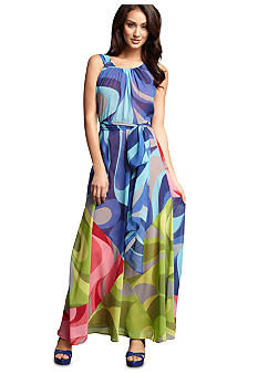 muse Multi Swirl Chiffon Maxi Dress