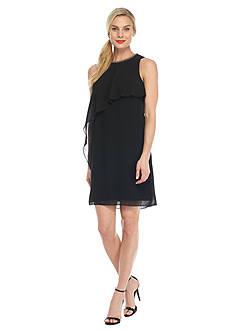SL Fashions Bead Embellished Chiffon Dress