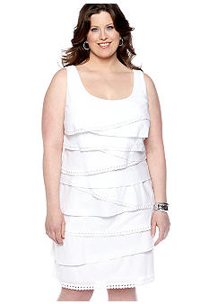 SL Fashions Plus Size Sleeveless Tiered Dress