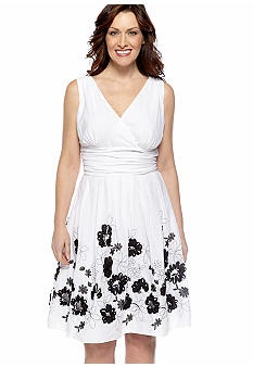SL Fashions Plus Size Sleeveless Surplice Party Dress