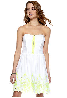 Speechless Strapless Full Skirt Neon