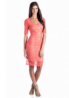 Speechless Tribal Lace Midi Dress