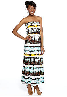 Speechless Strapless Tie Dye Printed Maxi Dress