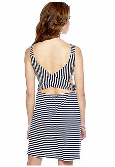 Speechless Knit Stripe X Back