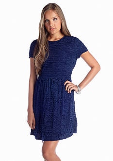 Speechless Crinkle Textured Knit Dress
