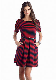 Speechless Stripe Textured Knit Dress