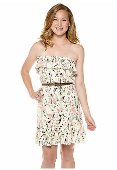Speechless Vintage Floral Ruffle Dress
