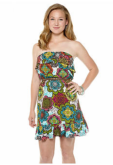 Speechless Paisley Printed Ruffle Dress