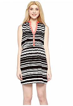 Speechless Sleeveless Stripe Shirt Dress