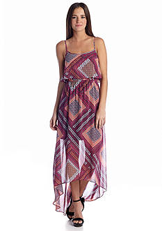 Speechless Medallion Printed High Low Dress