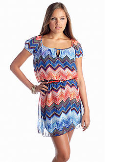 Speechless Chevron Blouson Dress