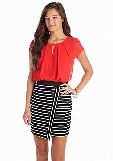 Speechless Colorblock Stripe Dress