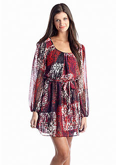 Speechless Printed Blouson Dress