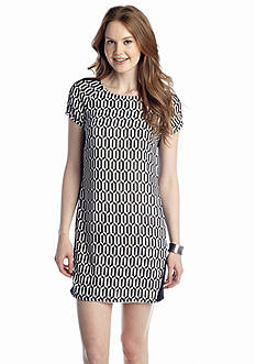 Speechless Geo Print Shift Dress