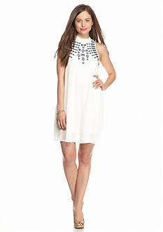 Speechless Neck swing Embroidered Dress