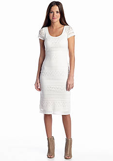 Almost Famous Geo Lace Midi Dress