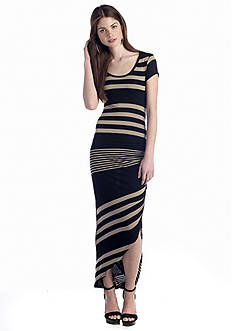 Almost Famous Stripe Midi Dress