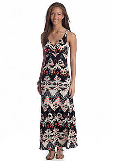 Almost Famous Aztec Print Maxi Dress