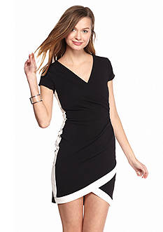 Almost Famous Framed Wrap Dress