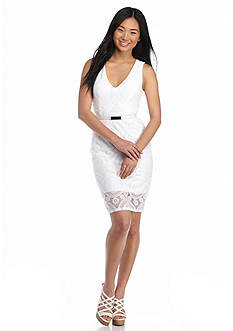 Almost Famous Lace Midi Dress