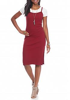 Almost Famous 2-Fer Slip Dress