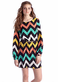 Almost Famous Multi Chevron Shift Dress