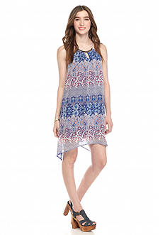 Almost Famous Paisley Printed Halter Dress