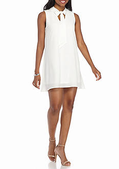 Almost Famous Sleeveless Tie Front Dress