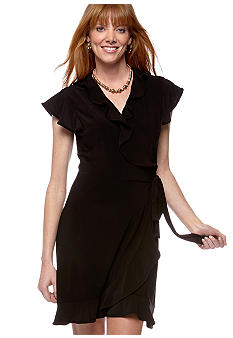 Tiana B Matte Jersey Ruffle Wrap Dress