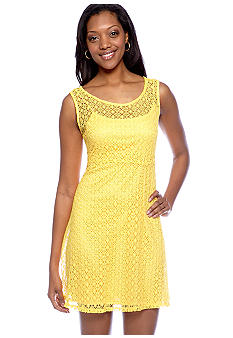 Tiana B Sleeveless Allover Lace Dress