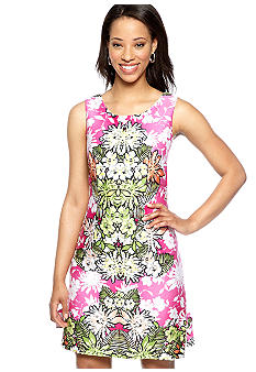 Tiana B Sleeveless Mirror Print Sheath Dress