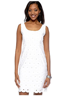 Tiana B Sleeveless Eyelet Shift Dress