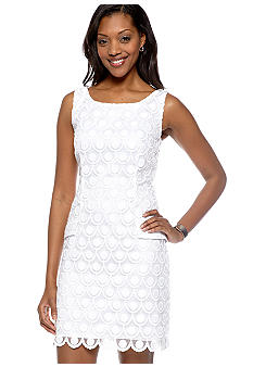 Tiana B Sleeveless Lace Shift Dress
