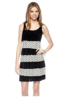 Tiana B Petite Sleeveless Racer Back Tiered Dress