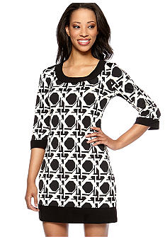 Tiana B Petite Printed Mod Shift Dress