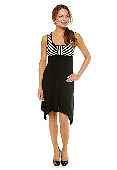 Tiana B Petite Stripe Empire Waist Dress