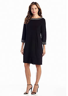 Tiana B Bead Embellished Shift Dress