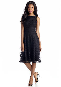 Tiana B Sleeveless Lace Fit and Flare Dress