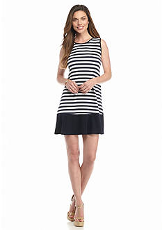 Tiana B Striped A-line Dress
