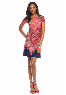 Tiana B Printed Shift Dress