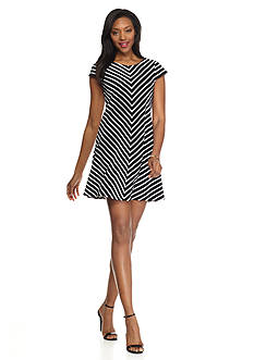Tiana B Striped Shift Dress