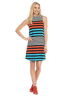 Tiana B Striped Trapeze Dress