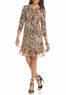 Tiana B Animal Printed Shift Dress