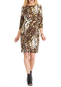 Tiana B Animal Printed Sheath Dress